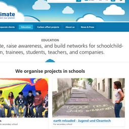awareness raising, teaching and projects about climate change